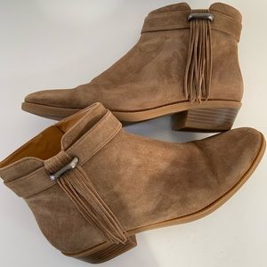 NINE WEST Suede Leather Ankle Boots Size 9M